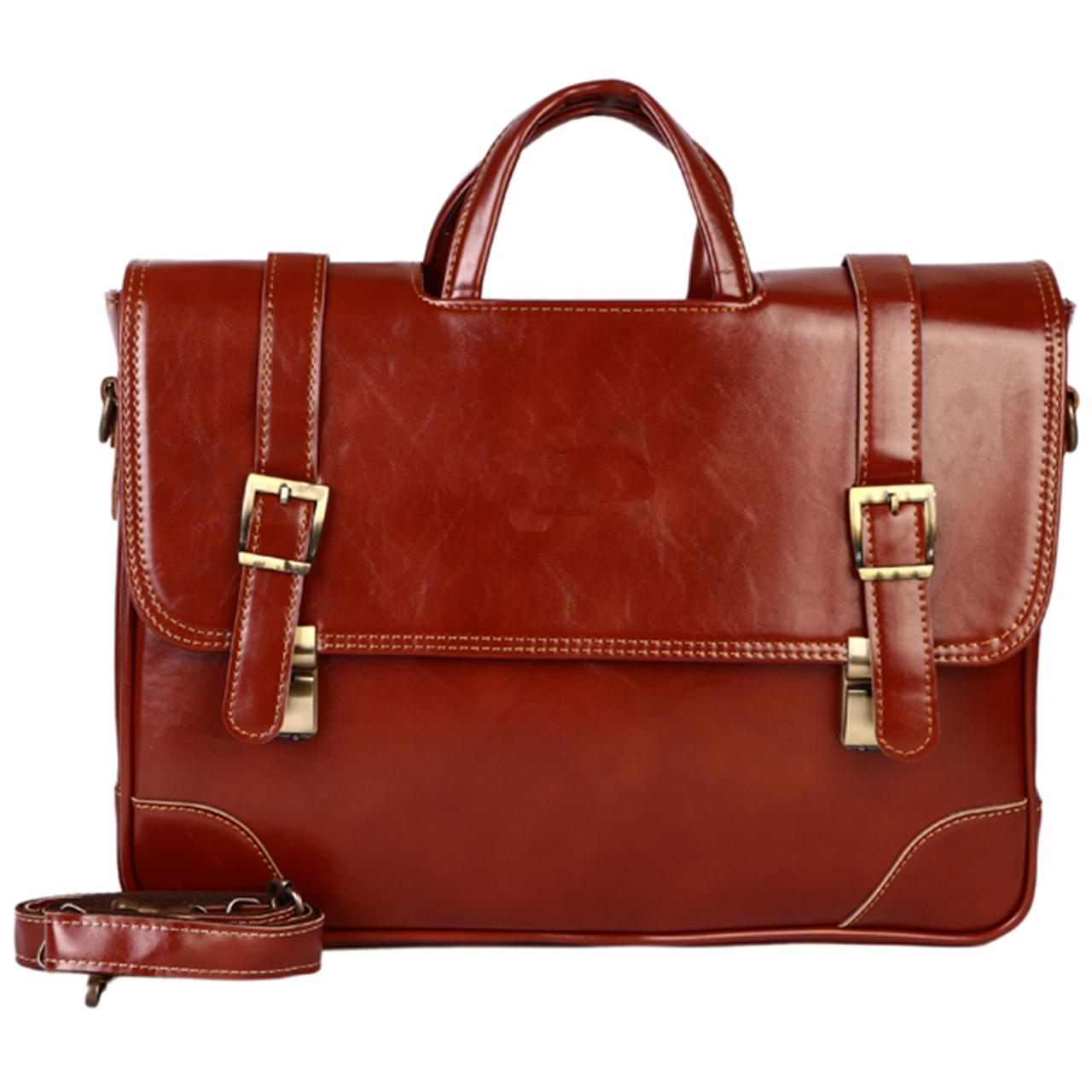 کیف اداری مردانه رویال چرم کد BF15-Brown