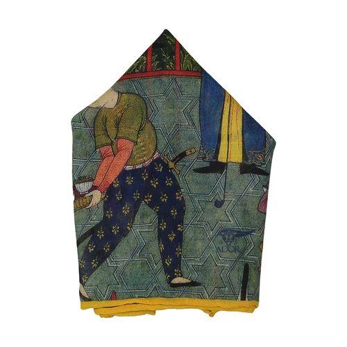 دستمال جیب طرح دار مردانه شاهنامه - ادور