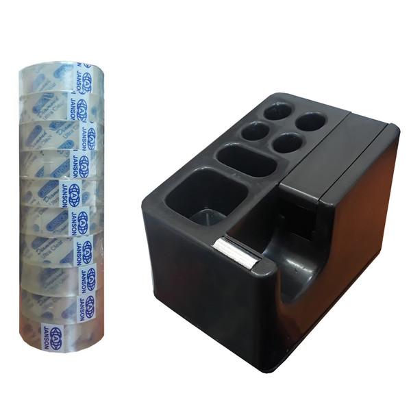 پایه چسب مدل 1000 به همراه چسب نواری جانسون کد02 عرض ۳ سانتی متر بسته 10 عددی