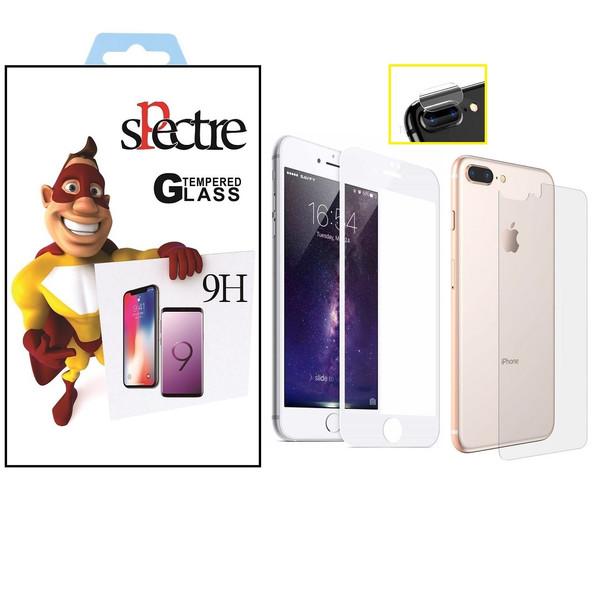 محافظ صفحه نمایش و پشت ولنز تمام چسب شیشه ای اسپکتر مدل9H مناسب برای گوشی اپل آیفون8/7پلاس