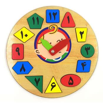 بازی آموزشی طرح ساعت با اعداد فارسی