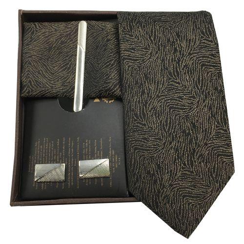 ست کراوات گیره دستمال و دکمه سردست هکس ایران مدل SET-TURK BRON