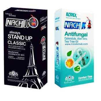 کاندوم کدکس مدل Stand Up Classic بسته 12 عددی به همراه کاندوم کدکس مدل Antifungal بسته 12 عددی