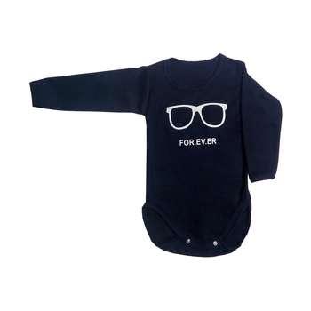 زیر دکمه دار نوزادی مدل children glasses رنگ سرمه ای