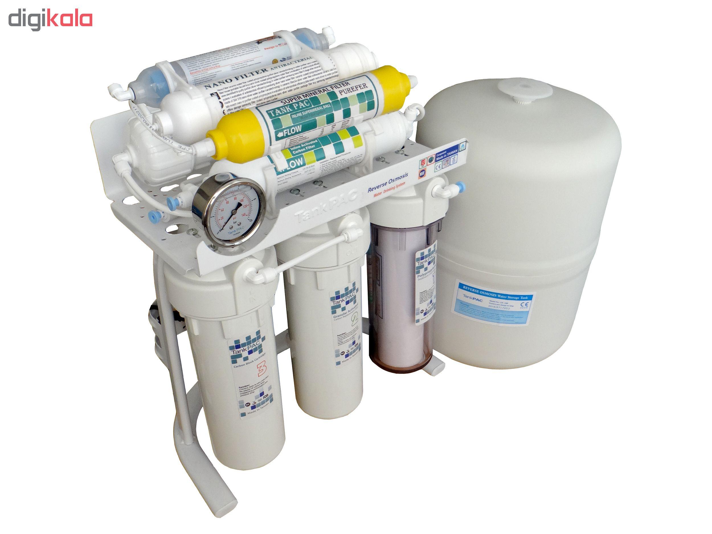 دستگاه تصفیه آب خانگی تانک پک مدل RO-TP3600