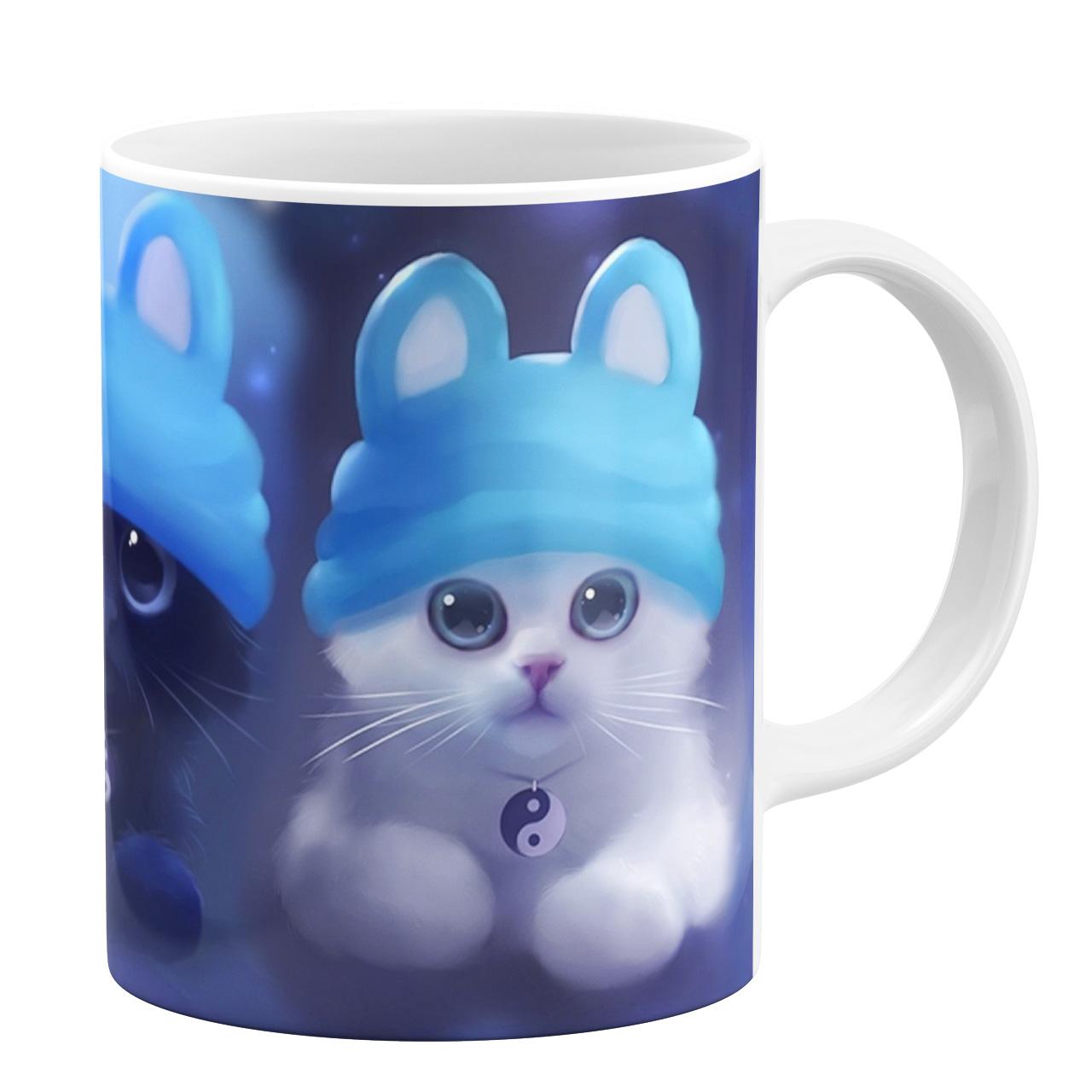ماگ طرح بچه گربه ها کد 7585