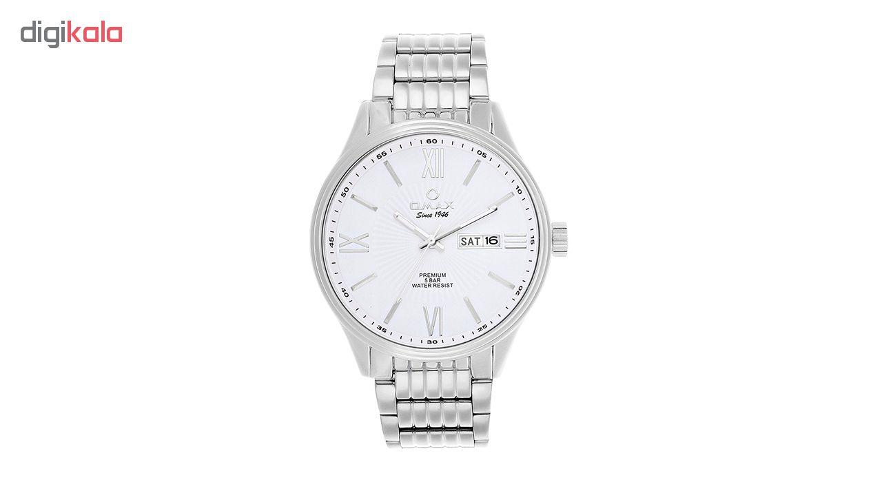 ساعت مچی عقربه ای مردانه اوماکس مدل OAW001 به همراه دستمال مخصوص برند کلین واچ