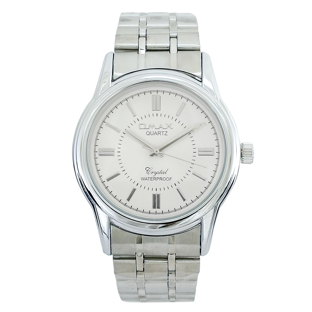 ساعت مچی عقربه ای مردانه اوماکس مدل AS012 به همراه دستمال مخصوص برند کلین واچ 51