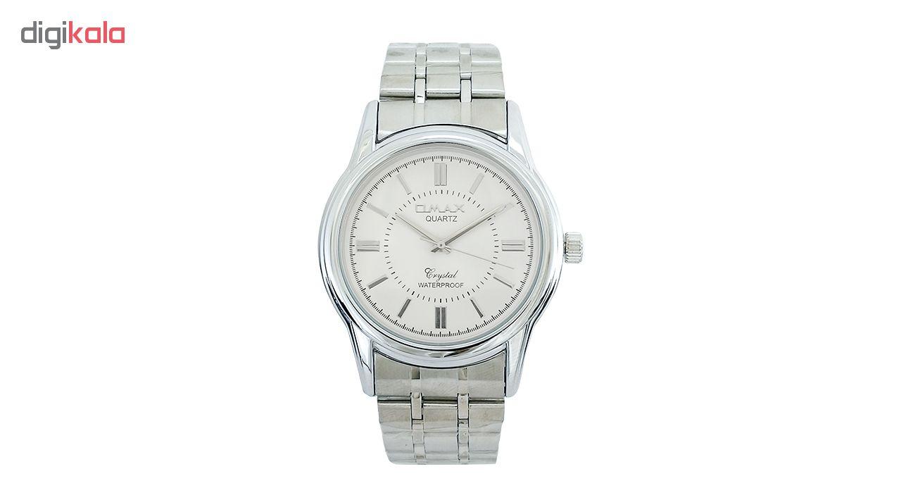 ساعت مچی عقربه ای مردانه اوماکس مدل AS012 به همراه دستمال مخصوص برند کلین واچ