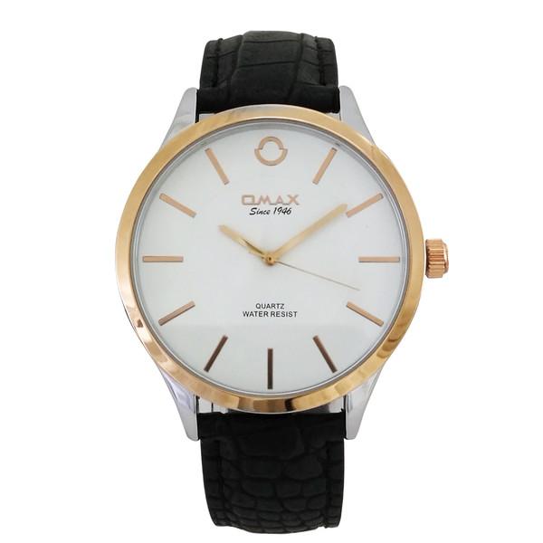 ساعت مچی عقربه ای مردانه اوماکس مدل RP0005 به همراه دستمال مخصوص برند کلین واچ