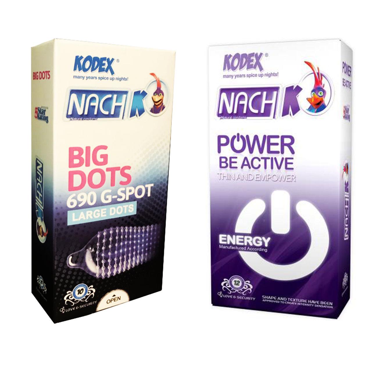 خرید                      کاندوم کدکس مدل Power Be Active بسته 12 عددی به همراه کاندوم کدکس مدل BIG DOTS بسته 12 عددی