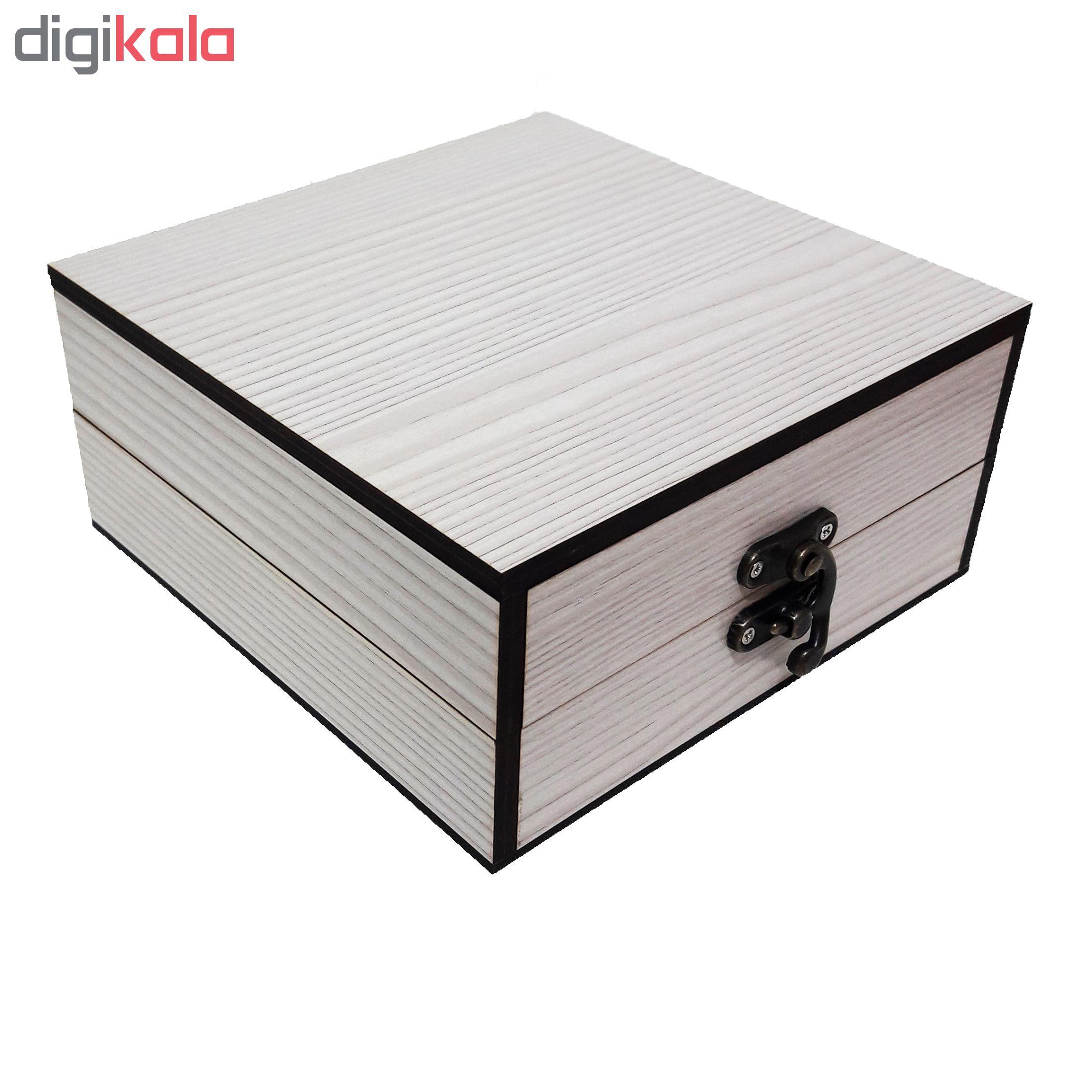 خرید                      جعبه هدیه چوبی کادو آیهان باکس مدل 45