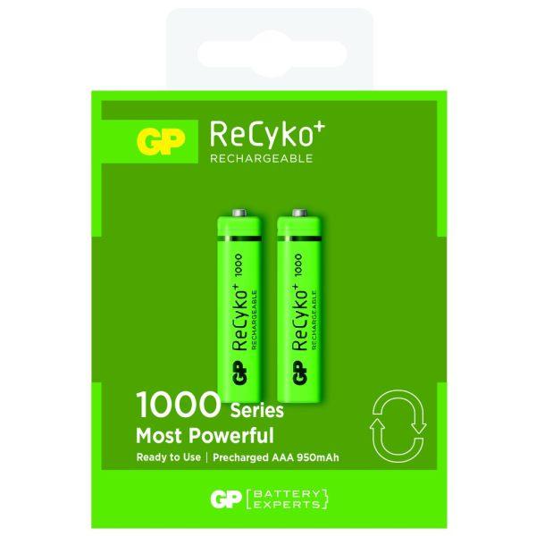 باتری نیم قلمی قابل شارژ جی پی مدل ReCyko Plus 950 بسته دو عددی