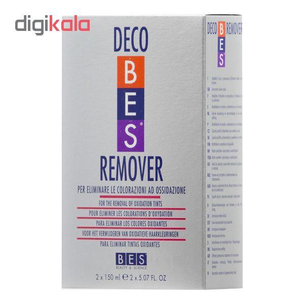 کیت پاک کننده رنگ مو بس مدل Decobes remover حجم 150میلی لیتر بسته 2 عددی