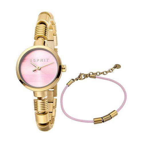 ست دستبند و ساعت مچی عقربه ای زنانه اسپریت مدل ES1L017M0055