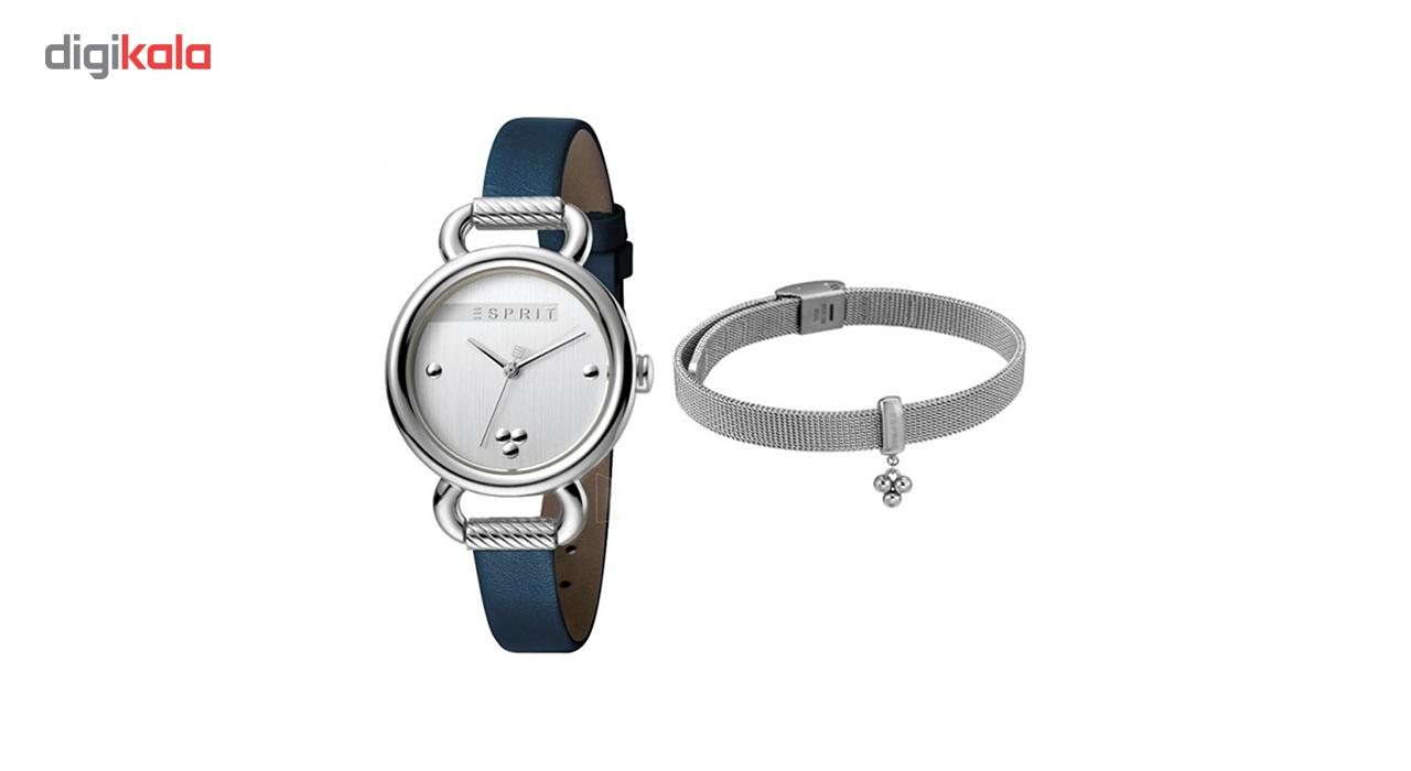 خرید ست دستبند و ساعت مچی عقربه ای زنانه اسپریت مدل ES1L023L0015