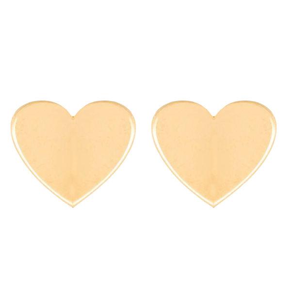 قیمت گوشواره طلا 18 عیار گالری فرنود طرح قلب مدل ES11
