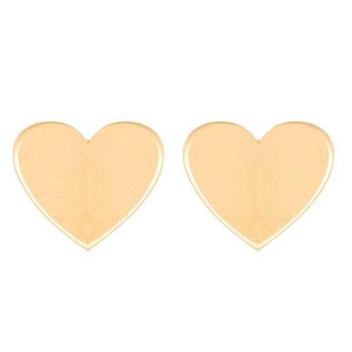 گوشواره طلا 18 عیار گالری فرنود طرح قلب مدل ES11