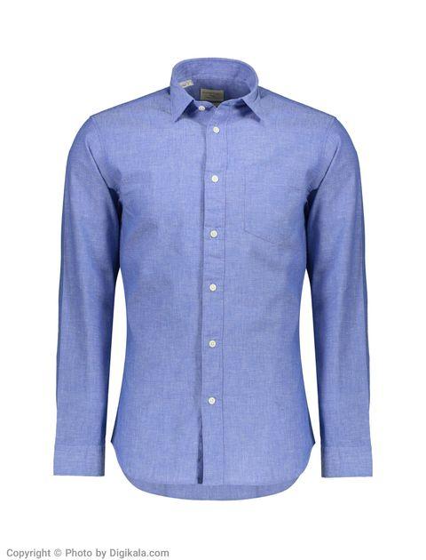 پیراهن مردانه سلکتد مدل 16061810-Medium Blue Melange -  - 1