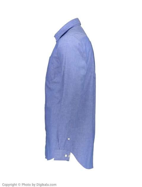 پیراهن مردانه سلکتد مدل 16061810-Medium Blue Melange -  - 3