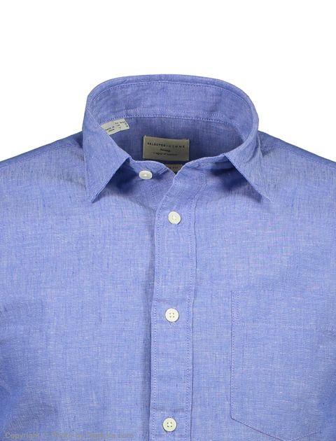 پیراهن مردانه سلکتد مدل 16061810-Medium Blue Melange -  - 4