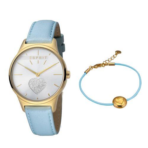 ست دستبند و ساعت مچی عقربه ای زنانه اسپریت مدل ES1L026L0205
