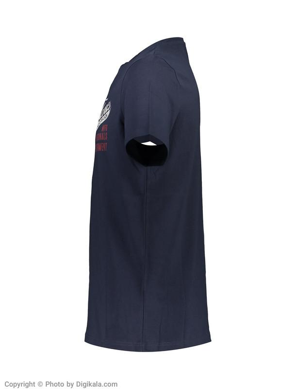 تی شرت مردانه جک اند جونز مدل 12138448-Navy