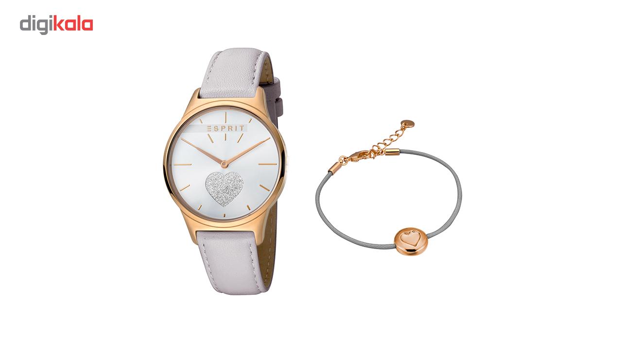 خرید                                      ست دستبند و ساعت مچی عقربه ای زنانه اسپریت مدل ES1L026L0215
