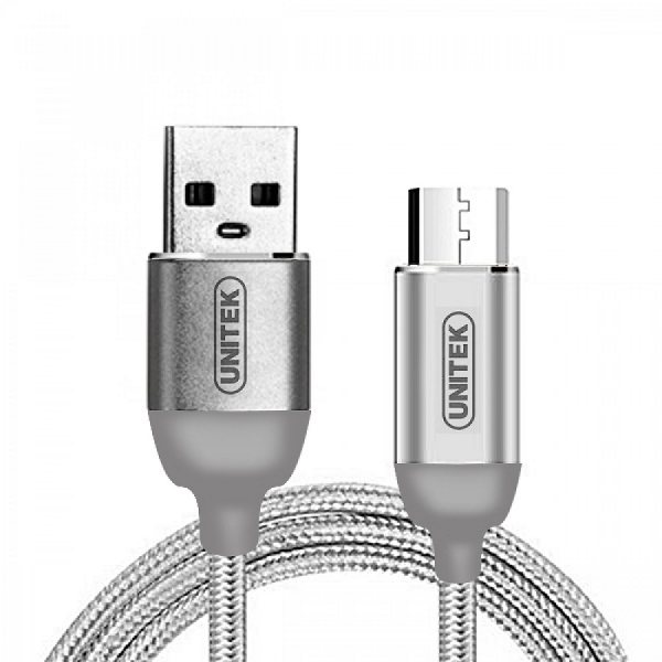 کابل تبدیل USB به microUSB یونیتک مدل Y-C4026ASL طول 1 متر