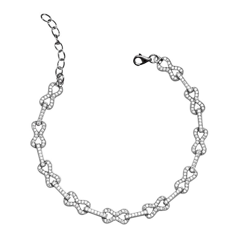 دستبند نقره زنانه شهر جواهر مدل SJ-BC034