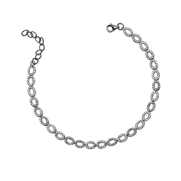 دستبند نقره زنانه شهر جواهر مدل SJ-BC036