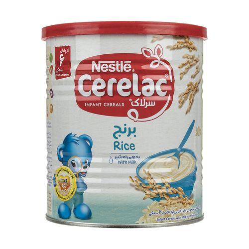 غذای کمکی سرلاک برنج نستله مقدار 400 گرم