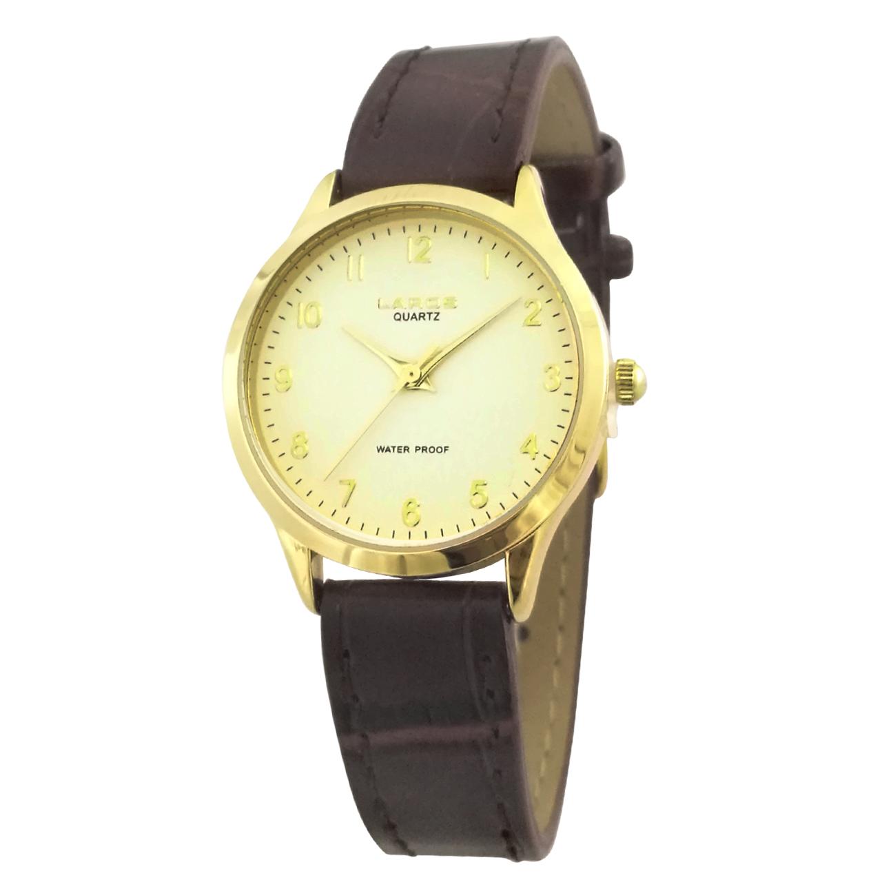 ساعت مچی عقربه ای زنانه لاروس مدل 0118-80206-s به همراه دستمال مخصوص برند کلین واچ 39