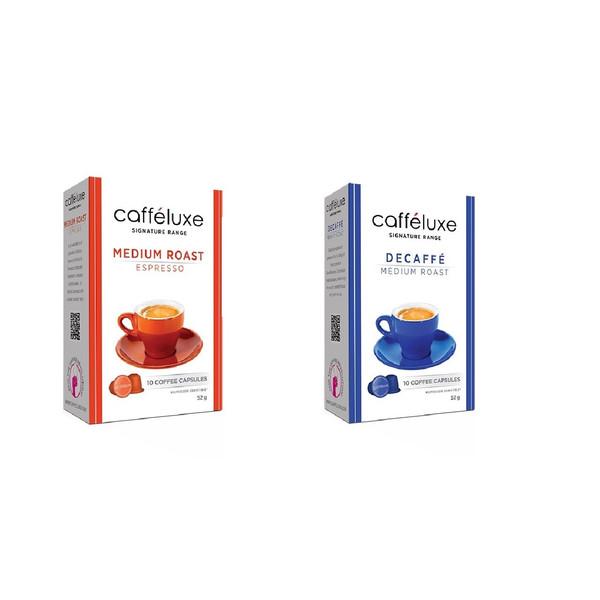کپسول قهوه دستگاه نسپرسو کافه لوکس مجموعه 2 بسته 10 عددی
