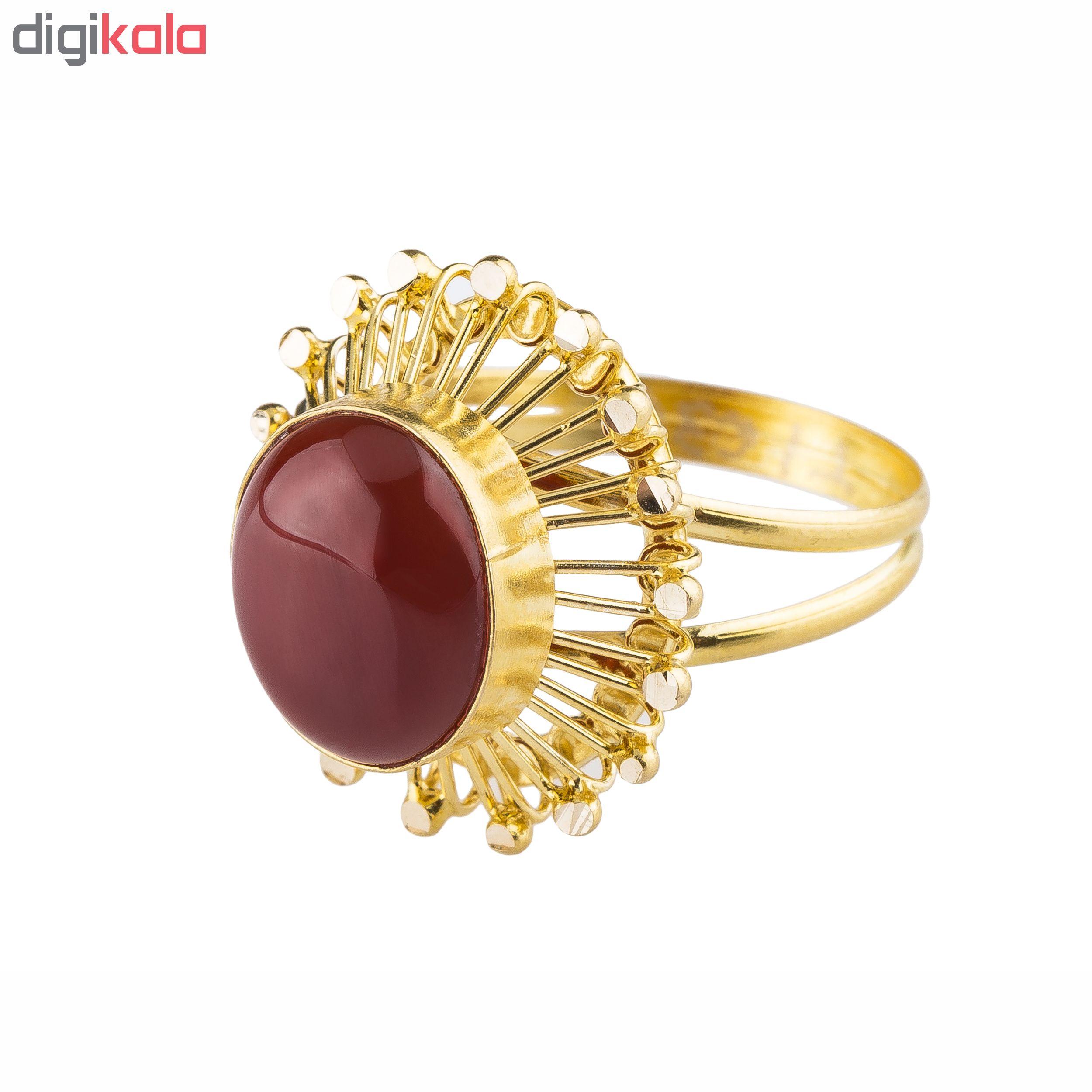 انگشتر طلا 18 عیار کد R104