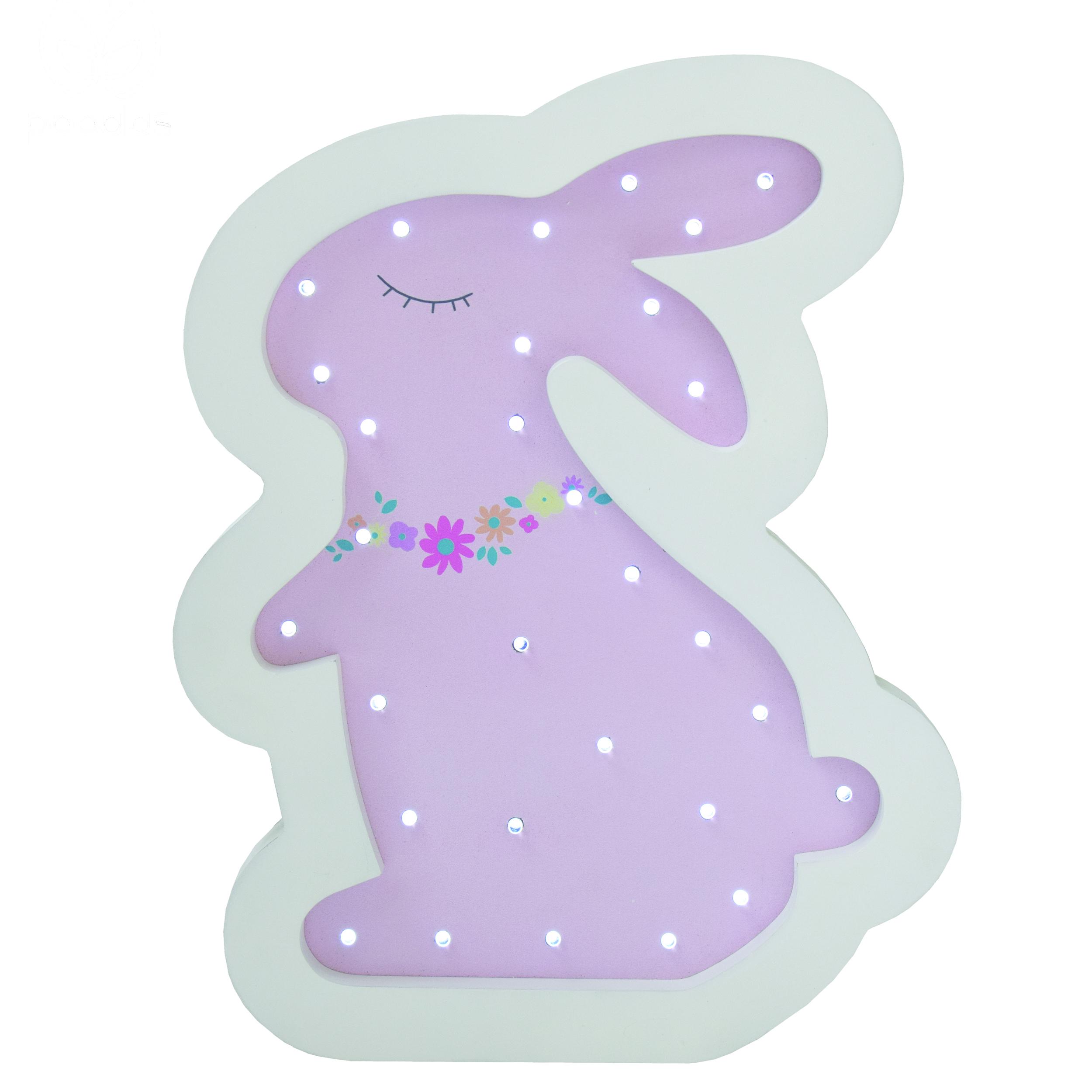 چراغ خواب ال ای دی کودک پوپولوس طرح خرگوش