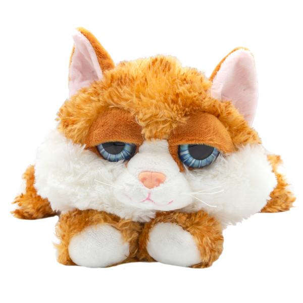 عروسک بی جی دالز طرح گربه خوابیده  کد BR2 طول 25 سانتی متر