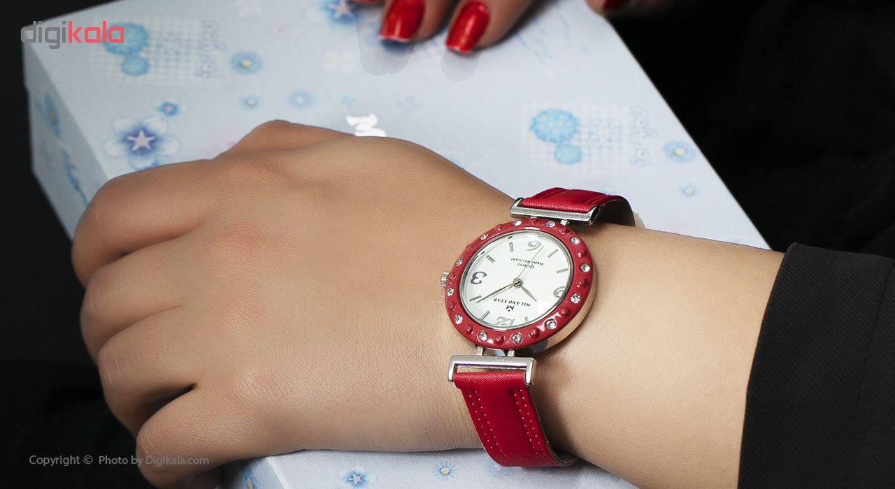 ساعت مچی عقربه ای زنانه میلانو استار مدل New Collection Blue بسته دو عددی