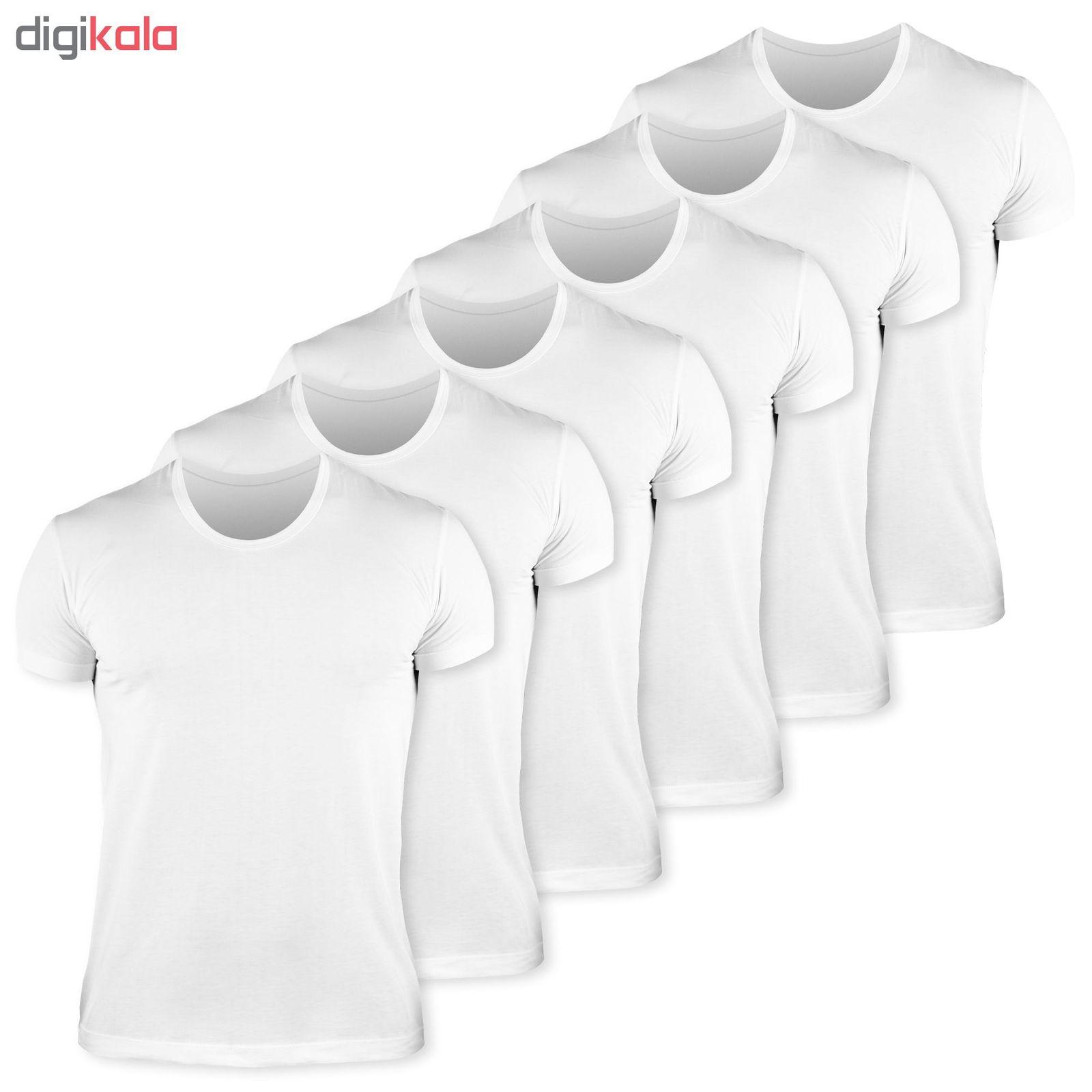 زیرپوش مردانه کیان تن پوش مدل U Neck Shirt Classic W مجموعه 6 عددی main 1 1