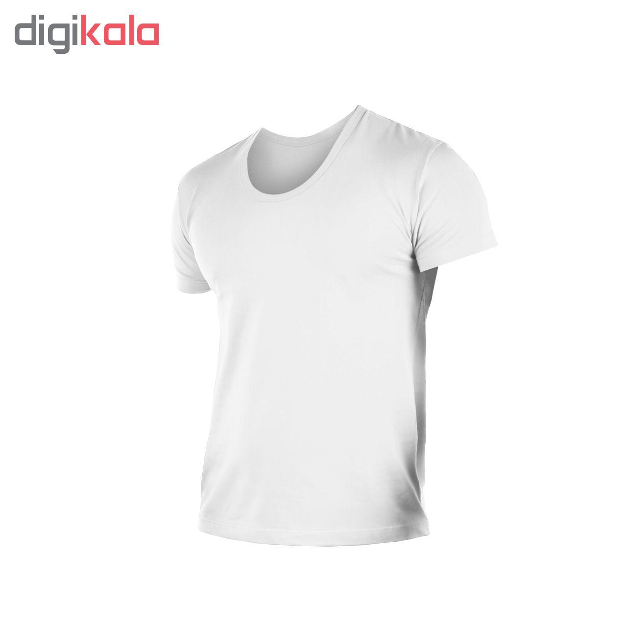 زیرپوش مردانه کیان تن پوش مدل U Neck Shirt Classic W مجموعه 6 عددی