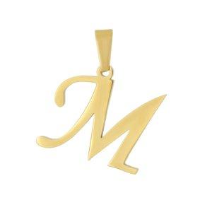 آویز گردنبند طلا 18 عیار جواهری میکا طرح M کد 0110008