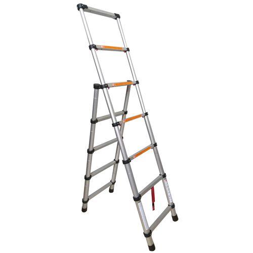 نردبان تلسکوپی تاشو مدل Telescopic Combi Ladder 2m