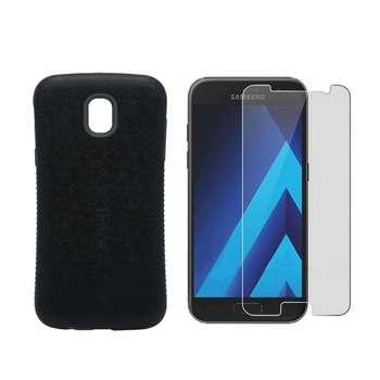 کاور آی فیس مدل I-001 مناسب برای گوشی موبایل سامسونگ Galaxy J7 pro به همراه محافظ صفحه نمایش Hard and thick مدل F001