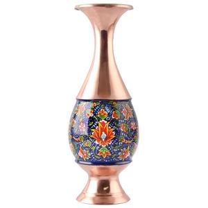 گلدان صراحی مس و پرداز اثر ابوالقاسمی کد 170210