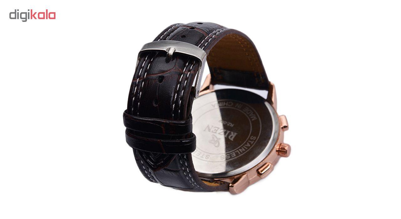 کد تخفیف                                      ساعت مچی عقربه ای مردانه ریزن کد Rz-WBr-RG