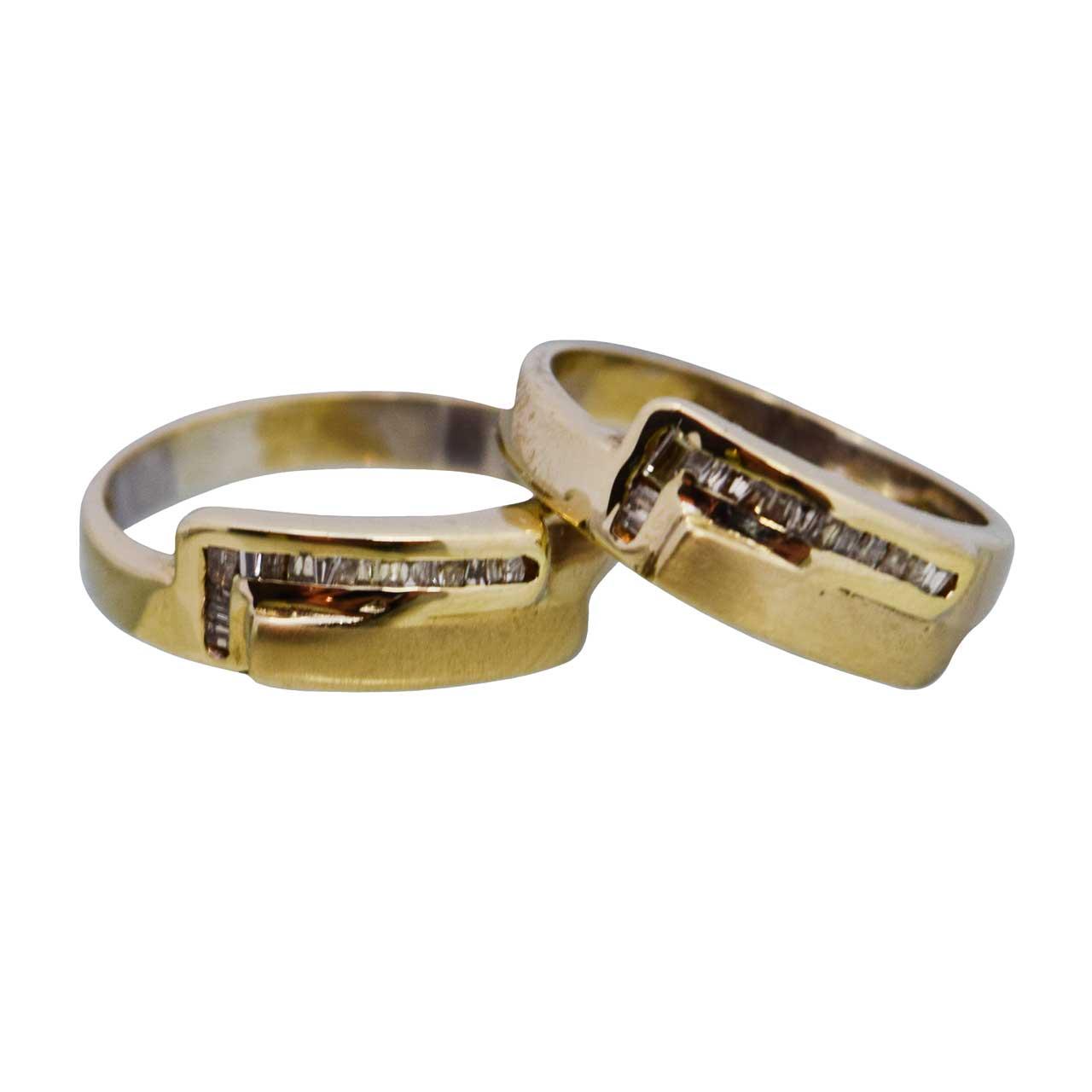 ست حلقه طلا 18 عیار کانیار گالری مدل M20