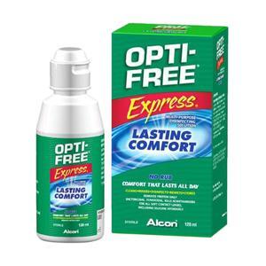 محلول شستشوی لنز اپتی فری مدل Opti Free Express حجم 120 میلی لیتر