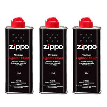 بنزین فندک زیپو مدل 125ML بسته 3 عددی