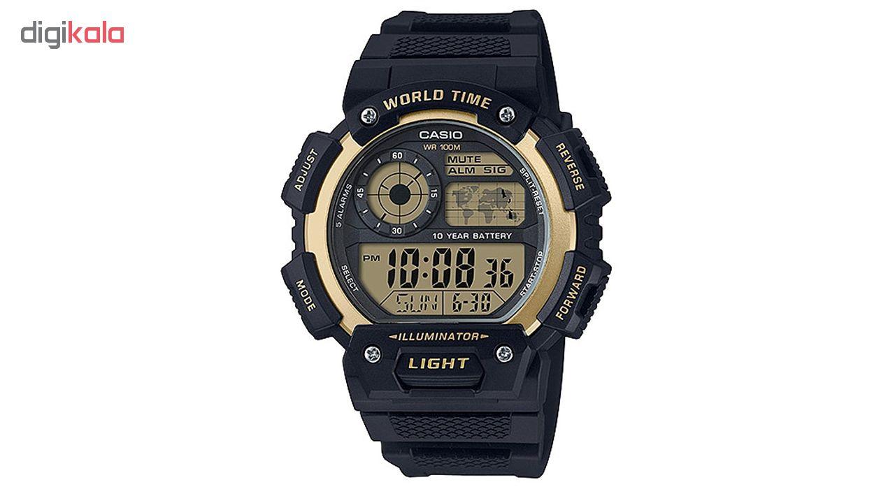 کد تخفیف                                      ساعت مچی دیجیتال مردانه کاسیو مدل AE-1400WH-9AVDF