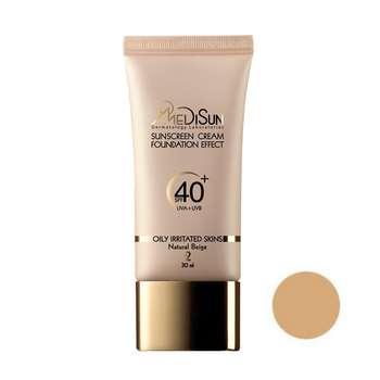 کرم پودر مدیسان سری Oily Skin مدل Foundation Effect شماره 02 حجم ۳۰ میلی لیتر